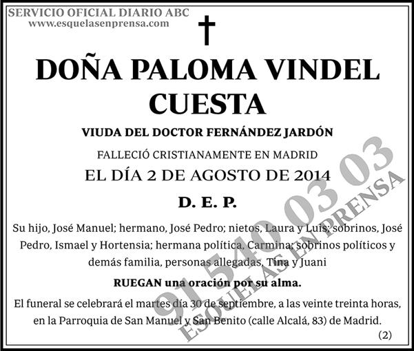 Paloma Vindel Cuesta